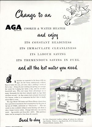 1950s Advert for the Model CB AGA