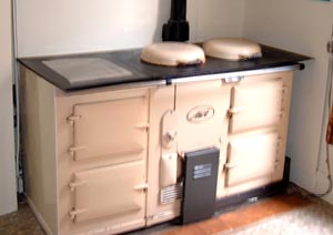 A fitted Aga Cooker