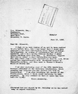 Letter from HEEH to SE, June 1956