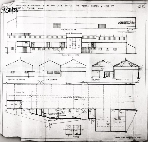 Plans of Tan Lane Machine Shop and Office
