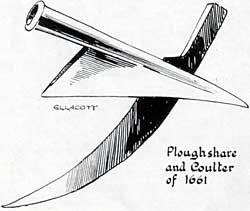 Plough share and coulter of 1661