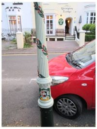 Decorated Lamp Post in Bystock Terrace
