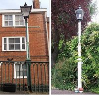 Lamp Posts at Iron Bridge and Spicer Road, Exeter