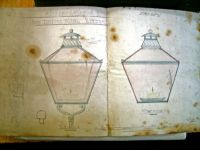 Two drawings of Lamps for the first Theatre Royal