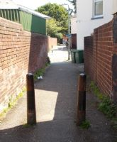Pair of Bollards, Church Rd, St Thomas