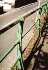 Stanchions alongside Footpath, Cowley Bridge Rd