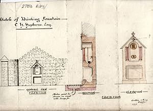Hele Mill monument drawing