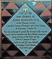 emorial tile for Bishop John Horden
