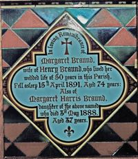 emorial tile for Margaret Braund