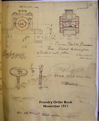 Page from the order book