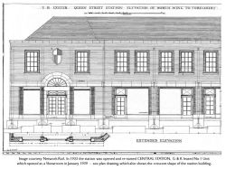 Front Elevation of North Wing of Central Station